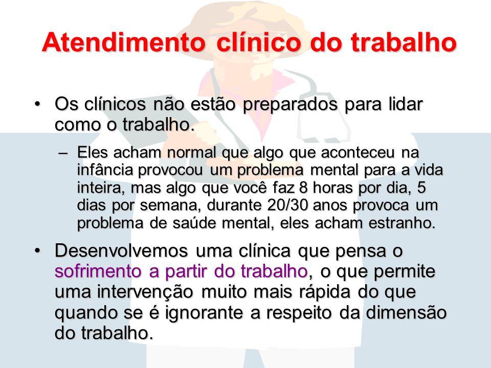 Atendimento clínico do trabalho