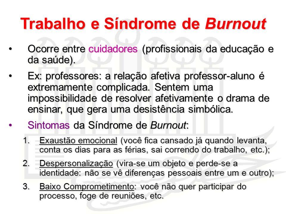 Trabalho e Síndrome de Burnout