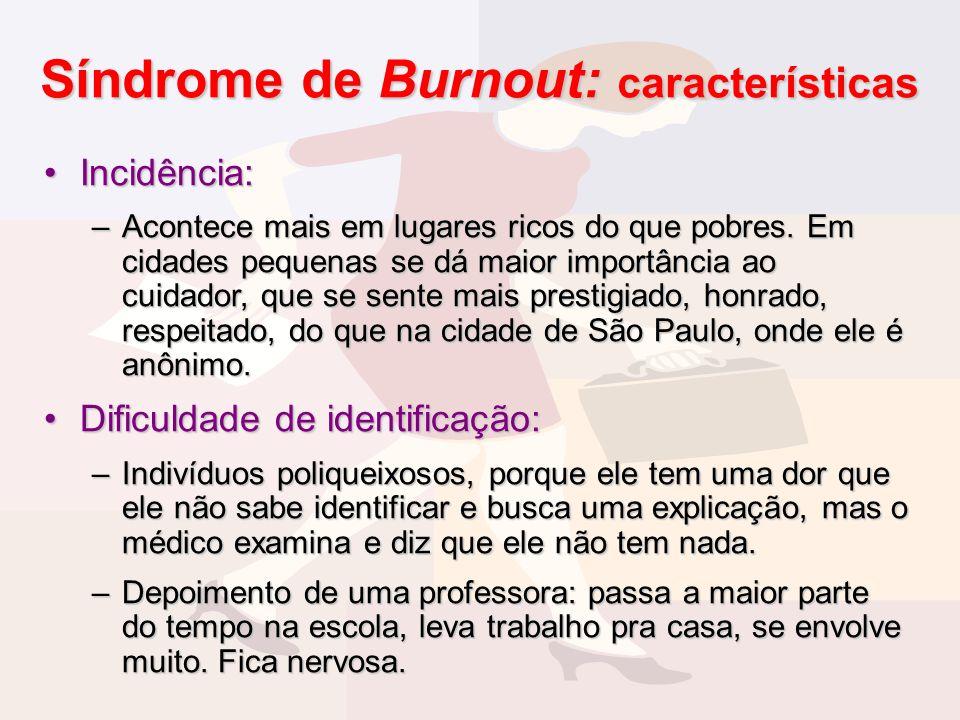 Síndrome de Burnout: características