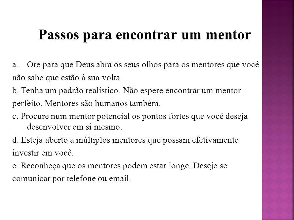 Passos para encontrar um mentor