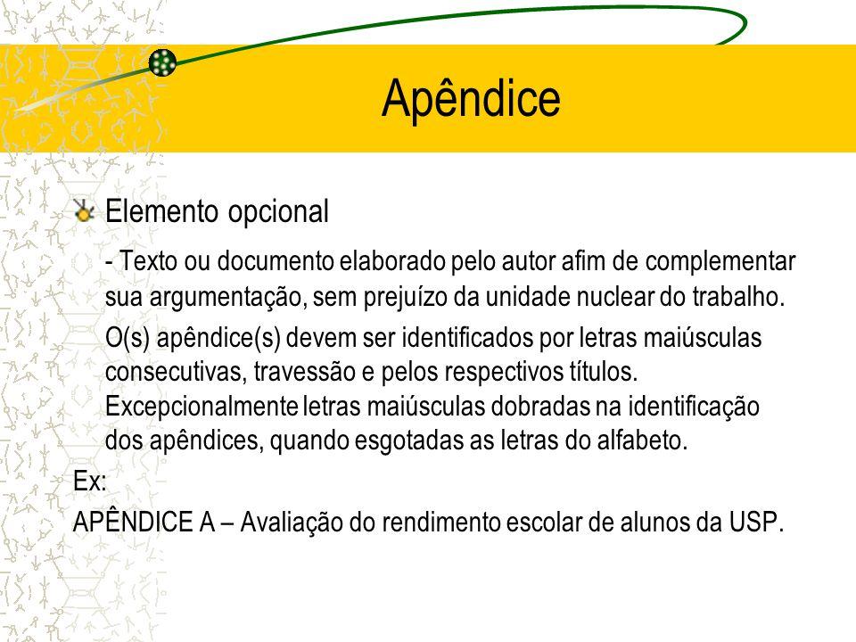 Apêndice Elemento opcional