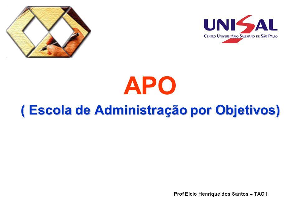 APO ( Escola de Administração por Objetivos)