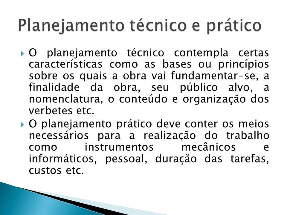 Planejamento técnico e prático