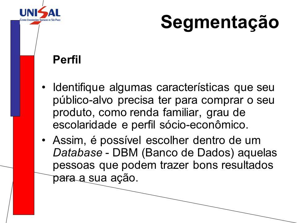 Segmentação Perfil.
