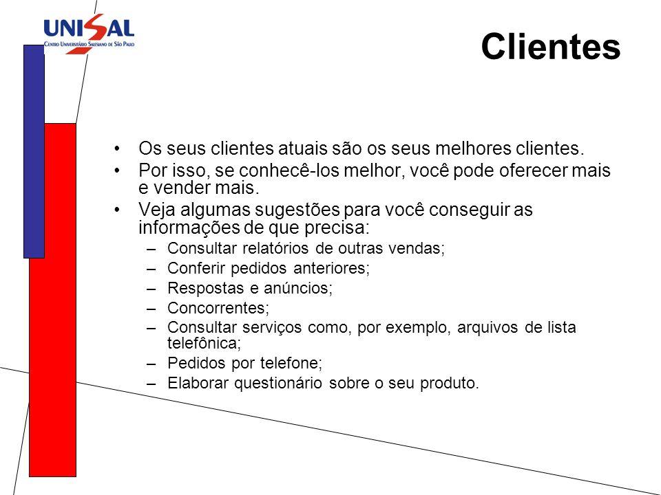 Clientes Os seus clientes atuais são os seus melhores clientes.