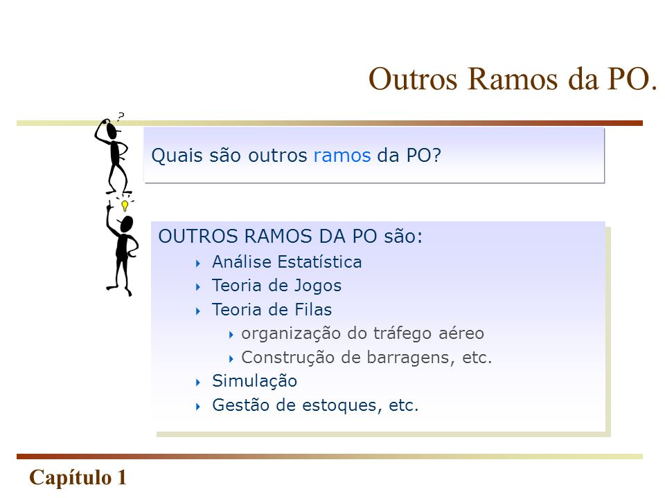 Outros Ramos da PO. Quais são outros ramos da PO