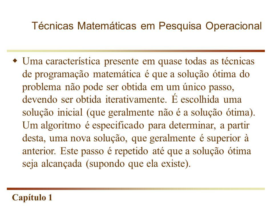 Técnicas Matemáticas em Pesquisa Operacional