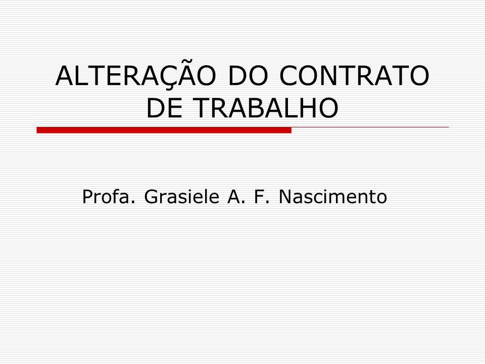 ALTERAÇÃO DO CONTRATO DE TRABALHO