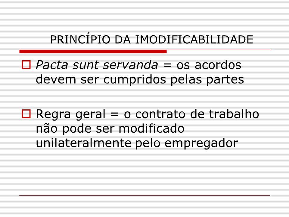 PRINCÍPIO DA IMODIFICABILIDADE