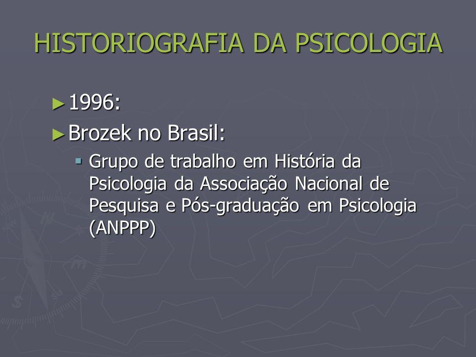 HISTORIOGRAFIA DA PSICOLOGIA