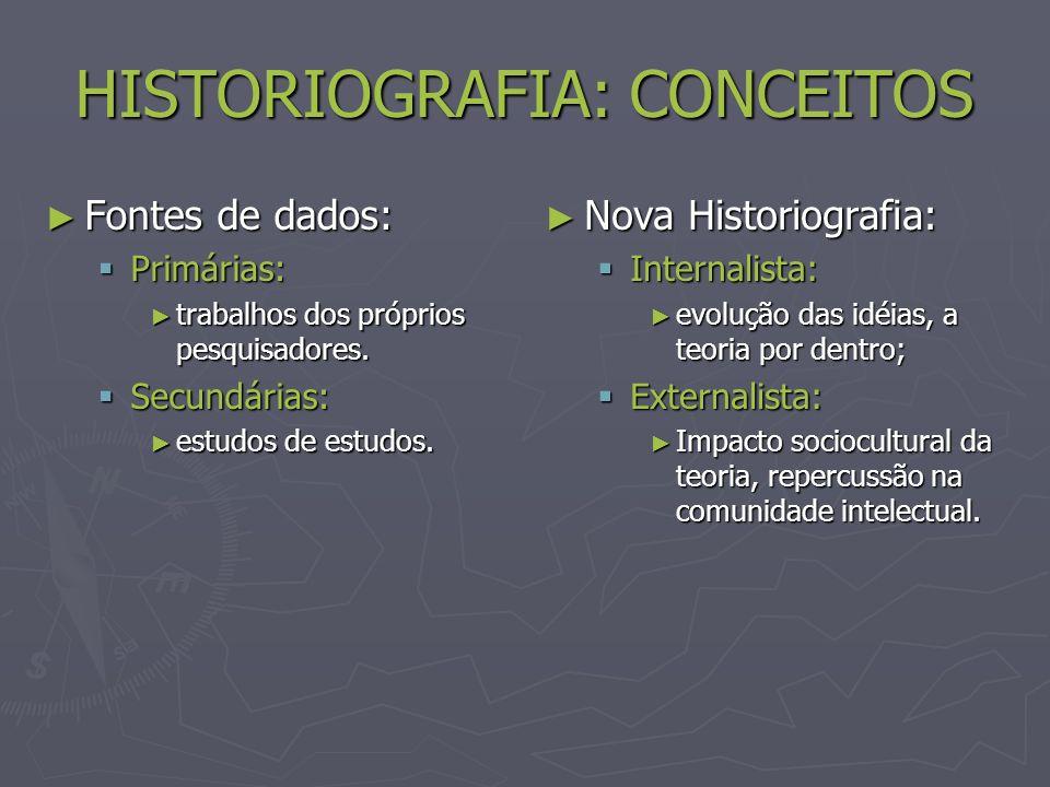 HISTORIOGRAFIA: CONCEITOS