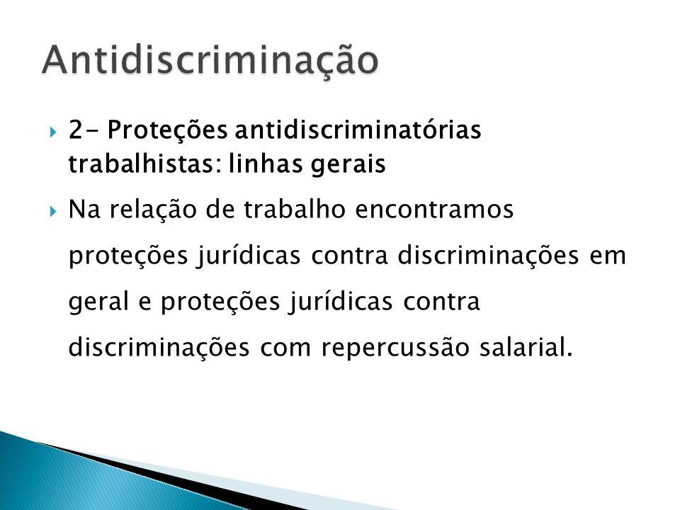 Antidiscriminação 2- Proteções antidiscriminatórias trabalhistas: linhas gerais.