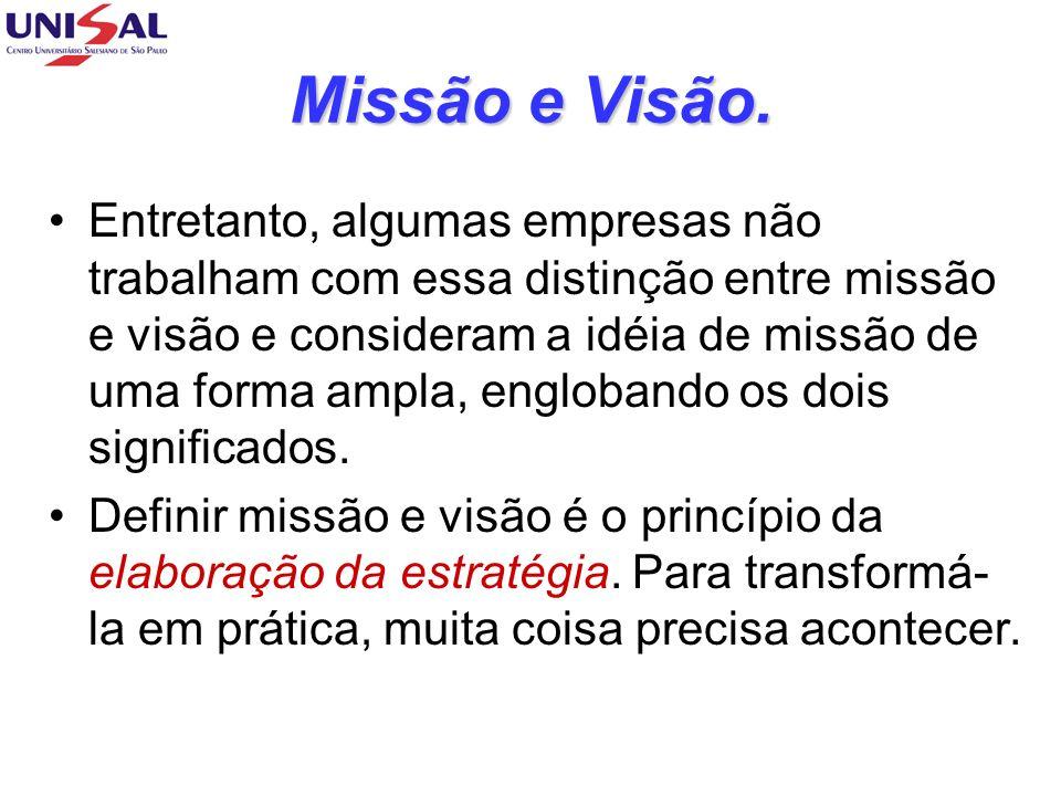 Missão e Visão.