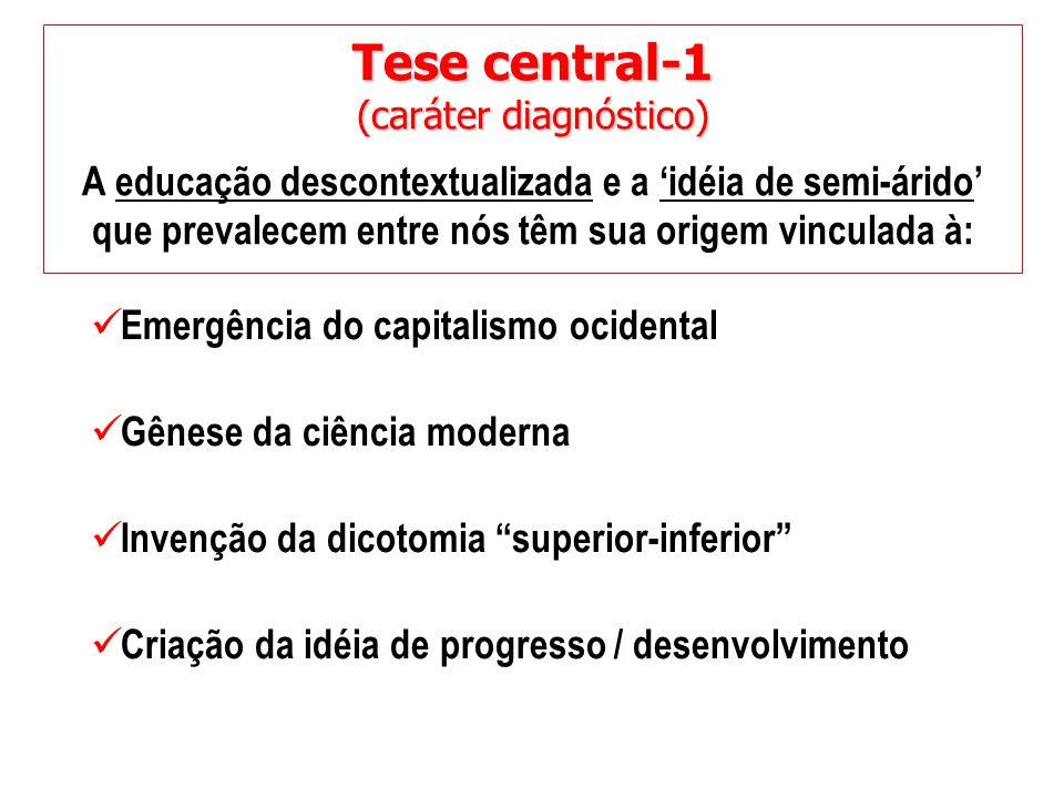 Tese central-1 A educação descontextualizada e a 'idéia de semi-árido'