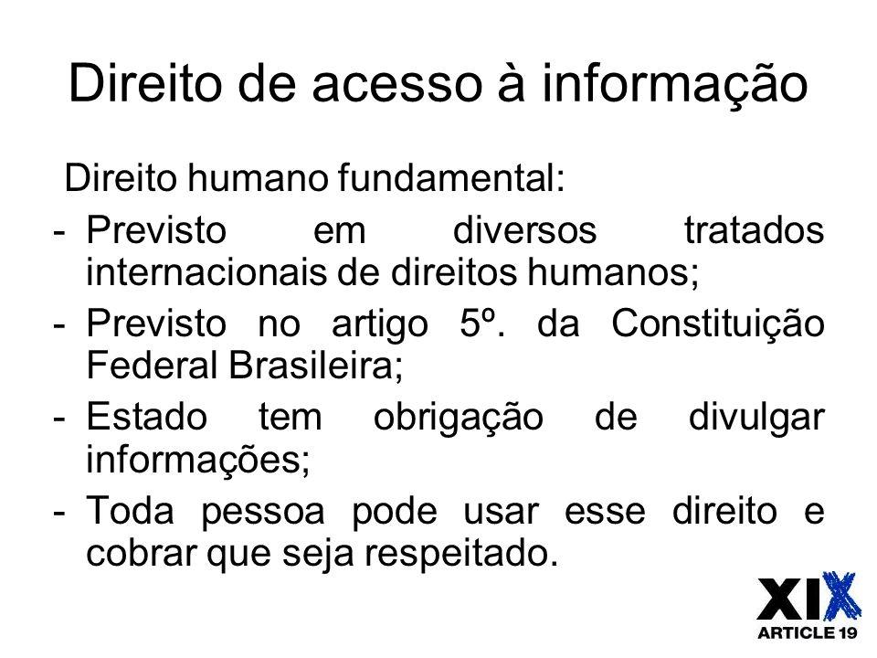 Direito de acesso à informação