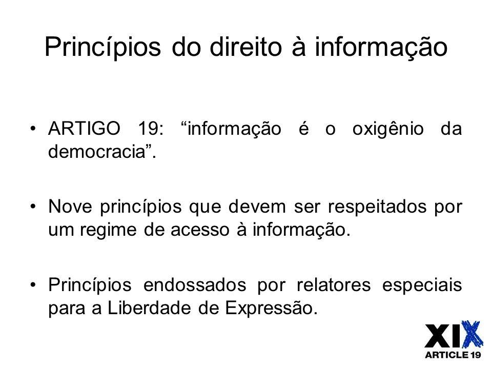 Princípios do direito à informação