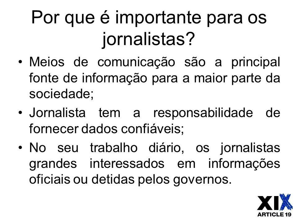 Por que é importante para os jornalistas