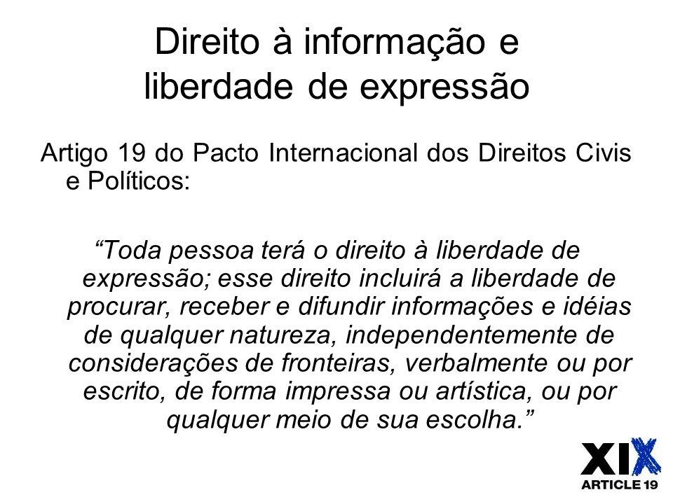 Direito à informação e liberdade de expressão