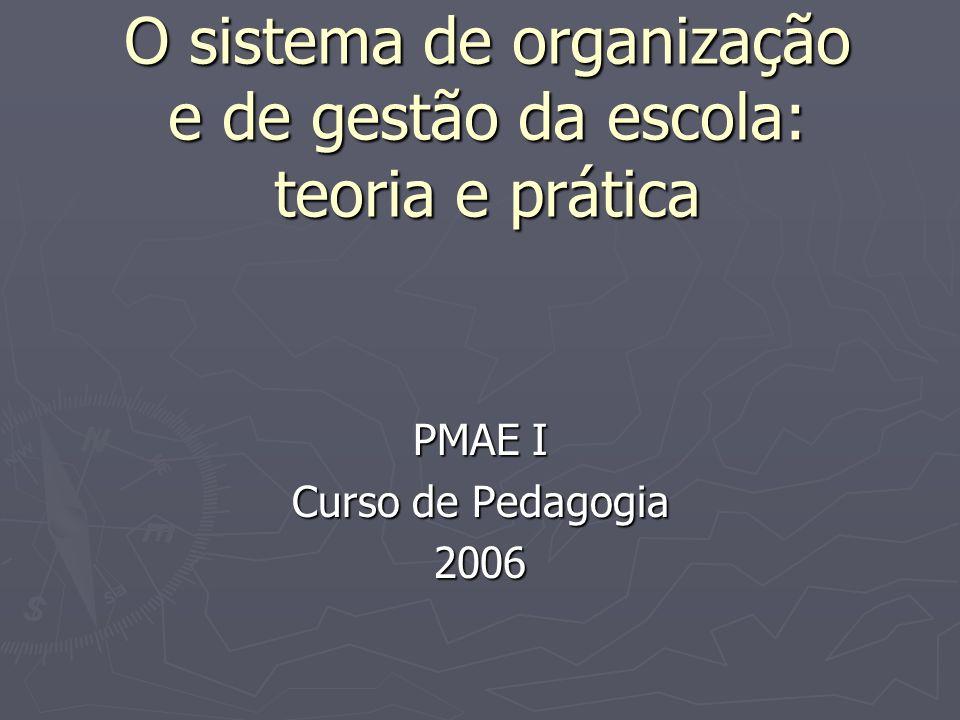 O sistema de organização e de gestão da escola: teoria e prática