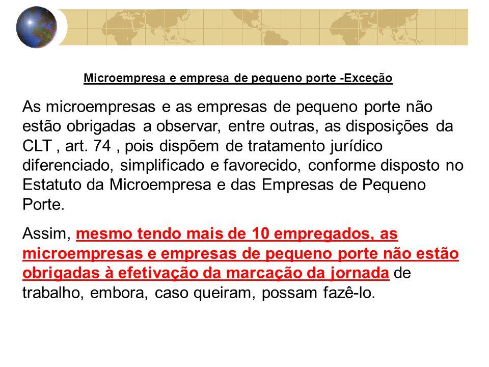 Microempresa e empresa de pequeno porte -Exceção