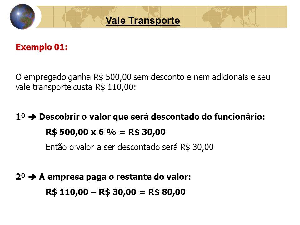 Vale Transporte Exemplo 01: