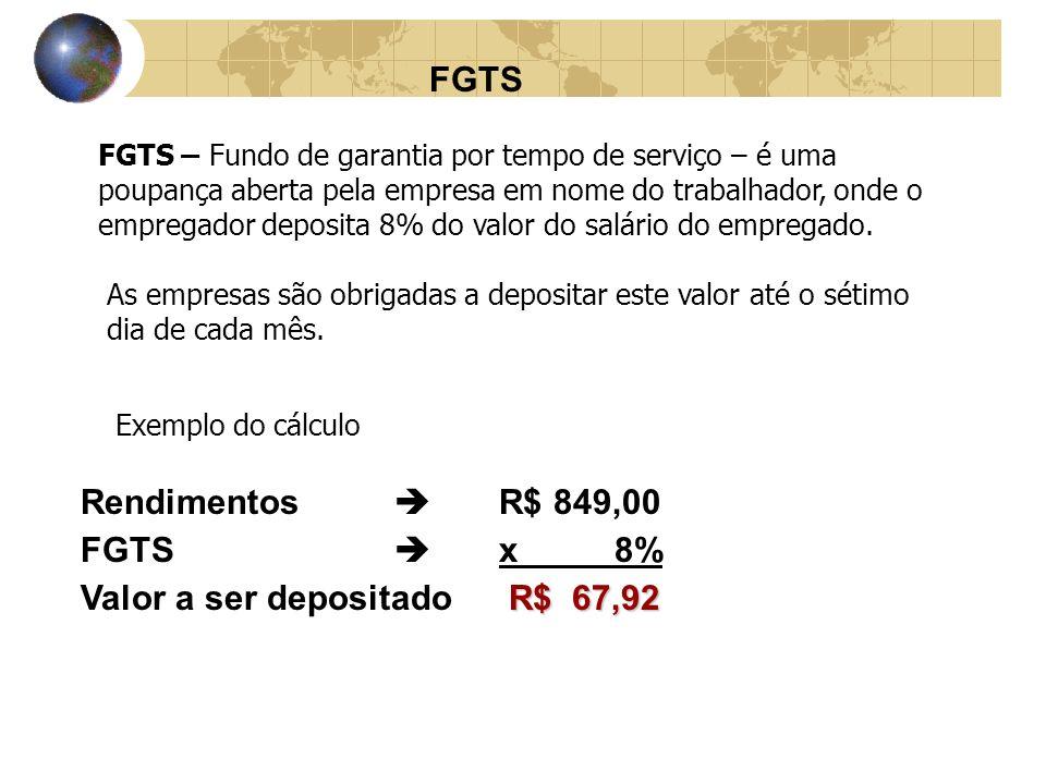 Valor a ser depositado R$ 67,92
