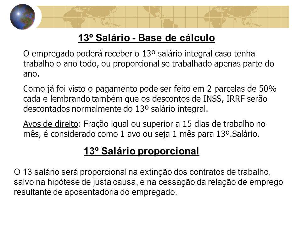 13º Salário - Base de cálculo