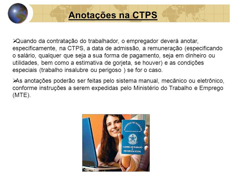 Anotações na CTPS