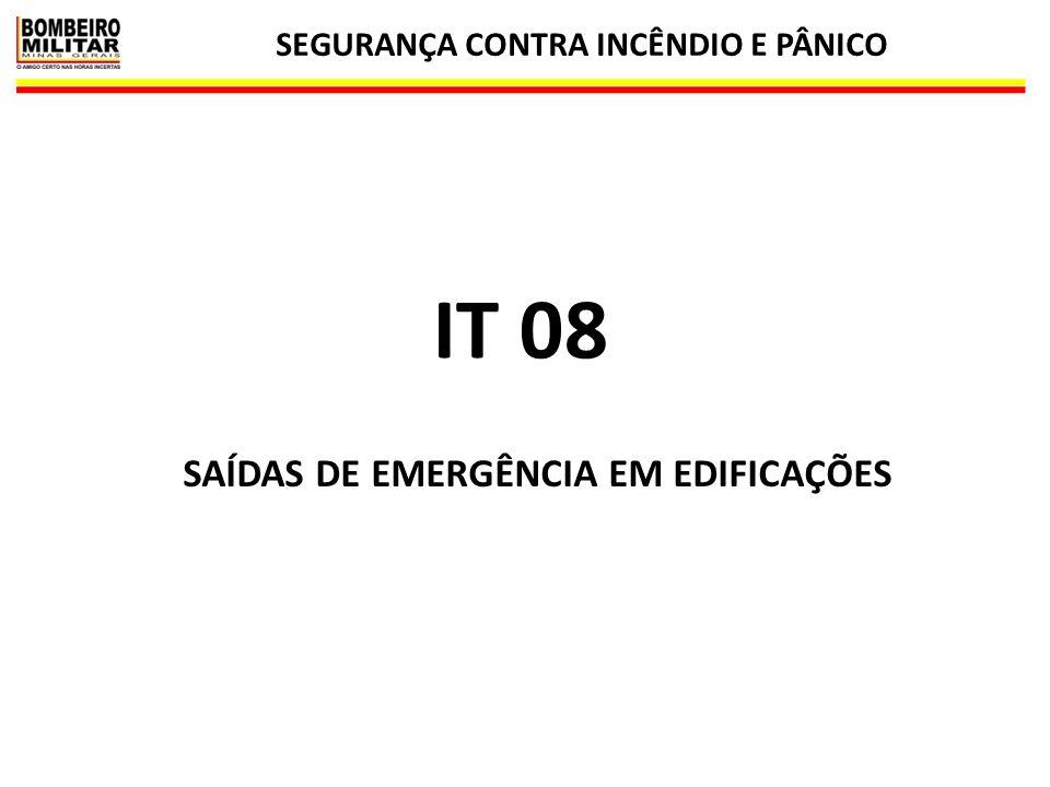 SEGURANÇA CONTRA INCÊNDIO E PÂNICO SAÍDAS DE EMERGÊNCIA EM EDIFICAÇÕES