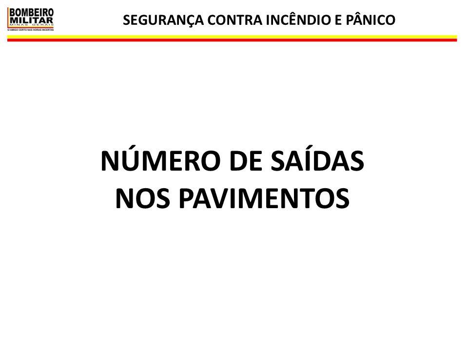 SEGURANÇA CONTRA INCÊNDIO E PÂNICO NÚMERO DE SAÍDAS NOS PAVIMENTOS