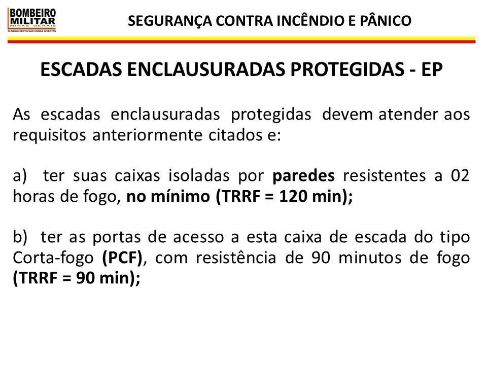 ESCADAS ENCLAUSURADAS PROTEGIDAS - EP