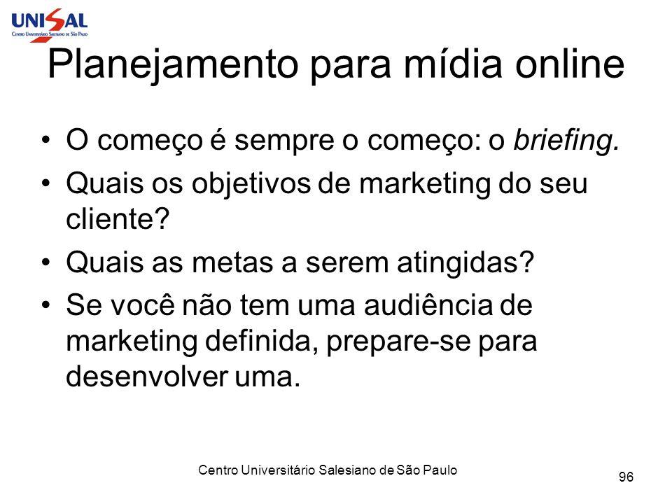 Planejamento para mídia online
