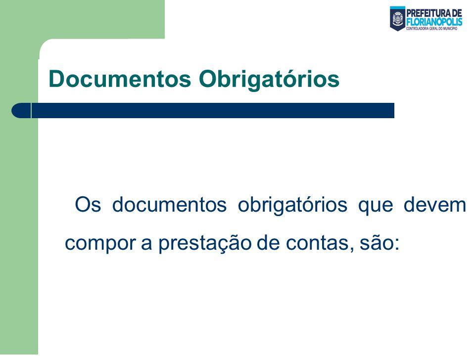 Documentos Obrigatórios