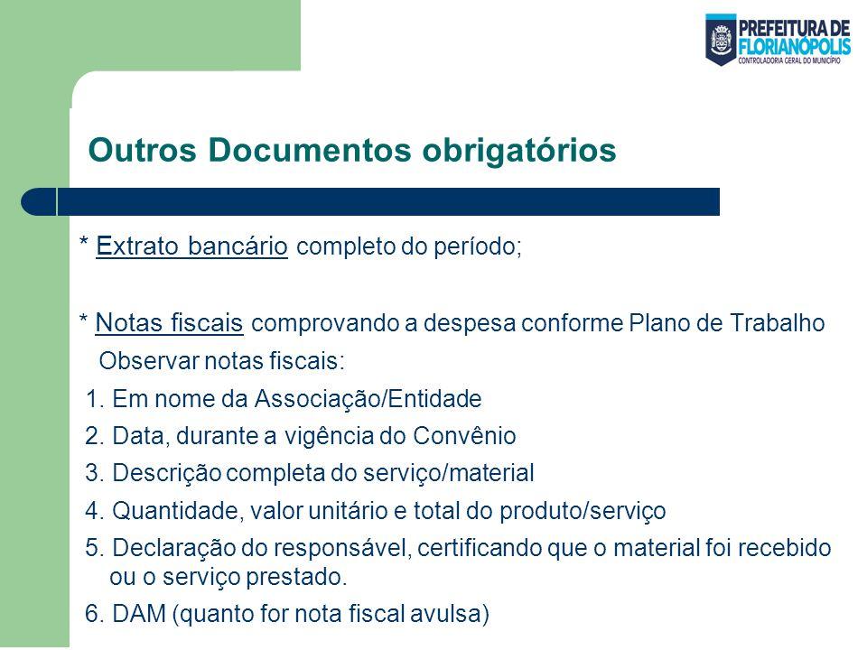 Outros Documentos obrigatórios