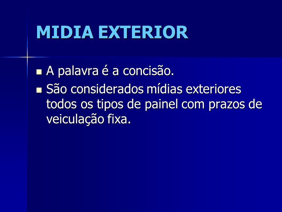 MIDIA EXTERIOR A palavra é a concisão.