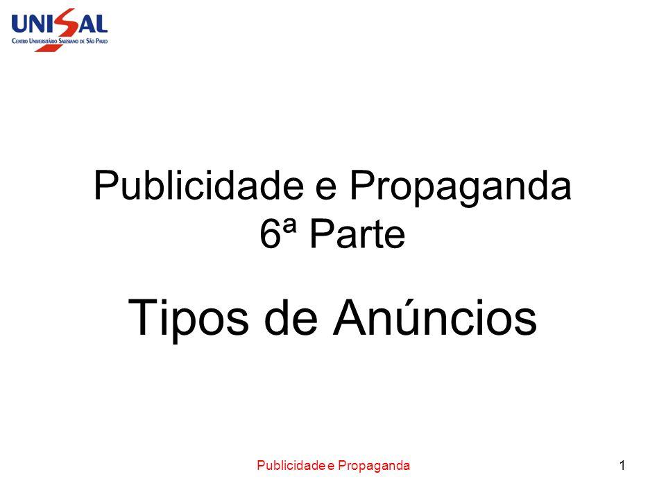 Publicidade e Propaganda 6ª Parte