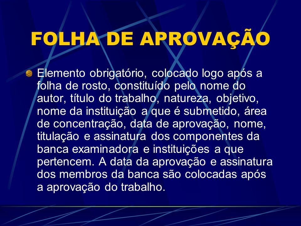 FOLHA DE APROVAÇÃO