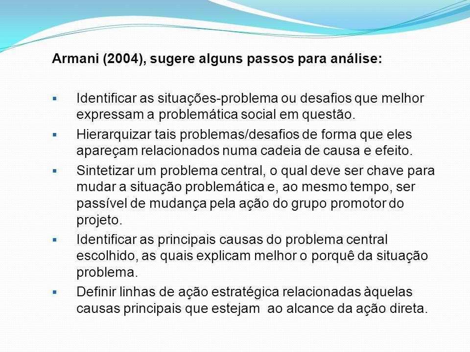 Armani (2004), sugere alguns passos para análise: