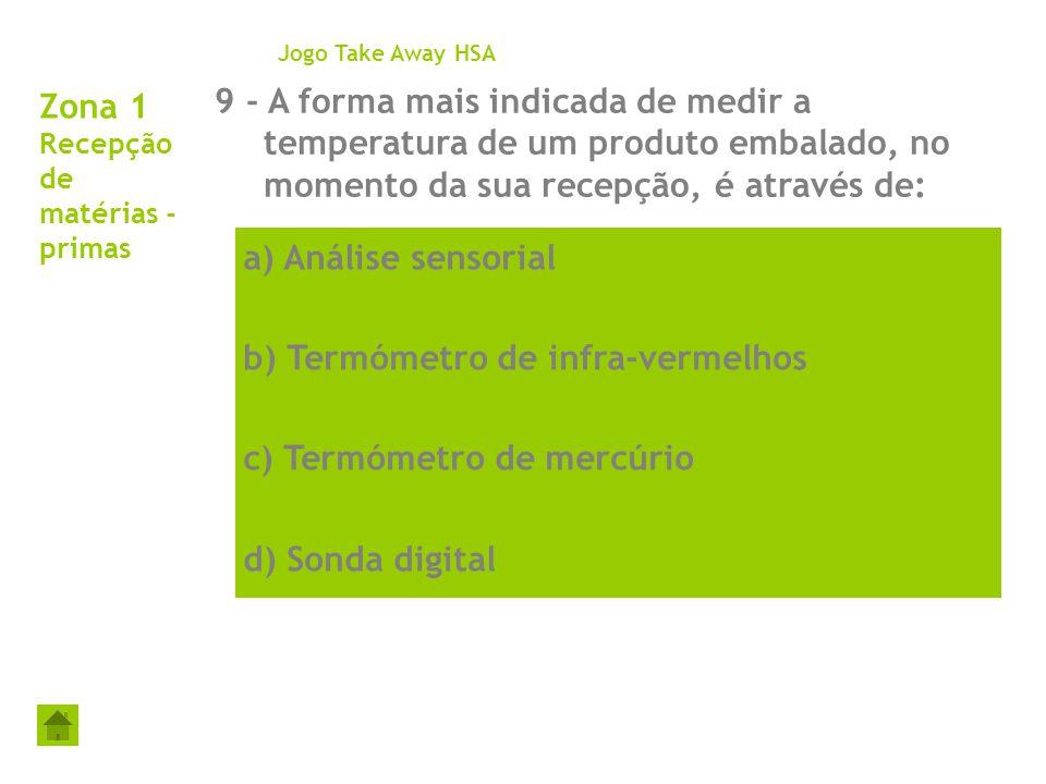 Zona 1 Recepção de matérias - primas