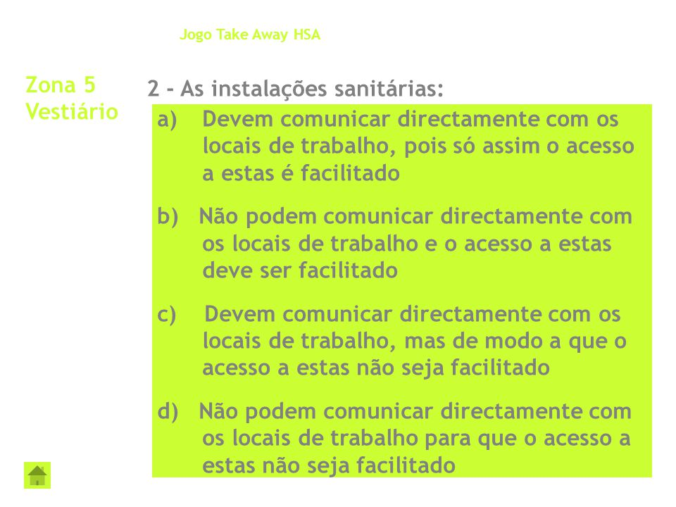 2 - As instalações sanitárias: