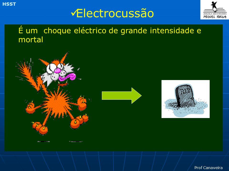 Electrocussão É um choque eléctrico de grande intensidade e mortal