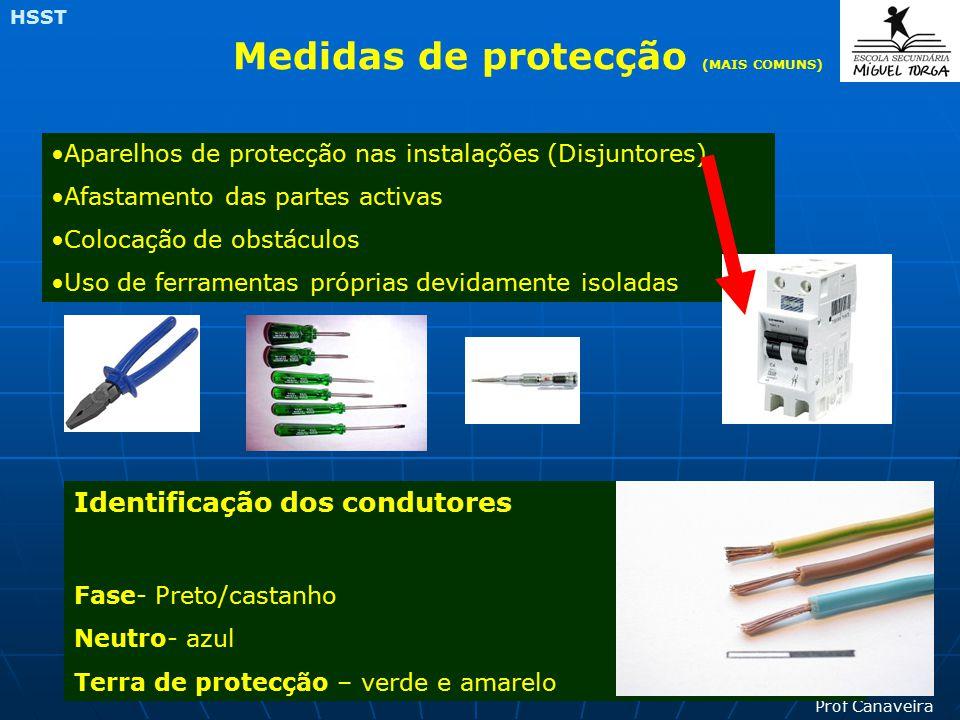 Medidas de protecção (MAIS COMUNS)