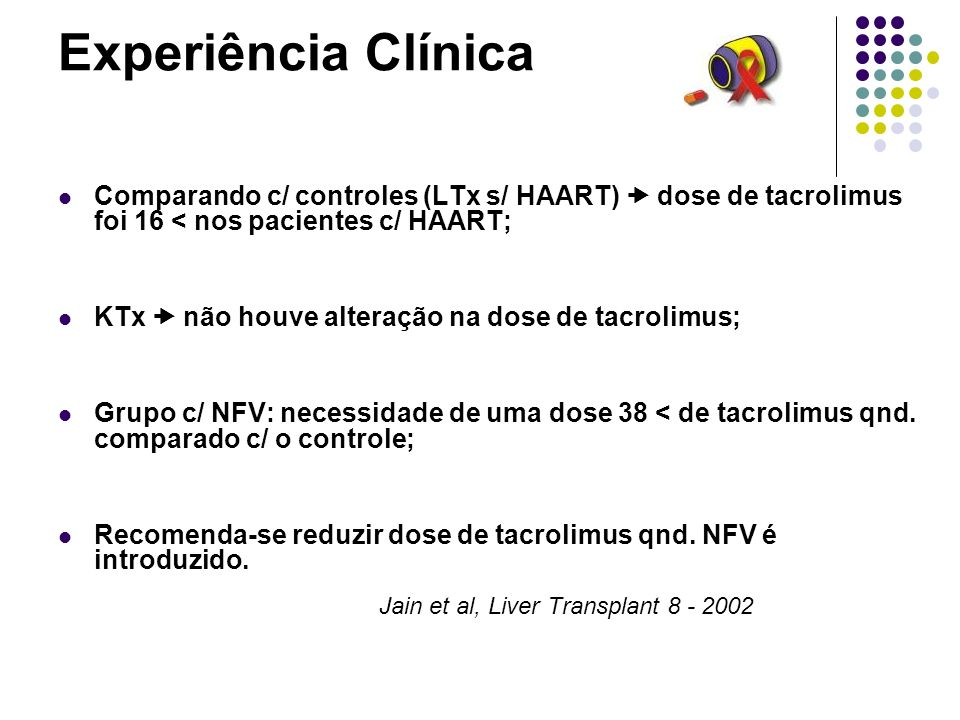 Experiência Clínica Jain et al, Liver Transplant 8 - 2002