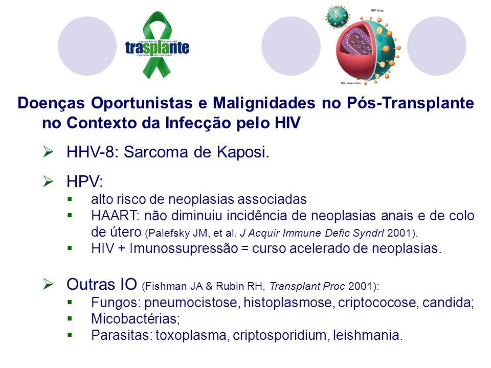 HHV-8: Sarcoma de Kaposi. HPV: