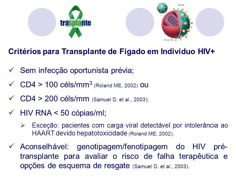 Critérios para Transplante de Fígado em Indivíduo HIV+