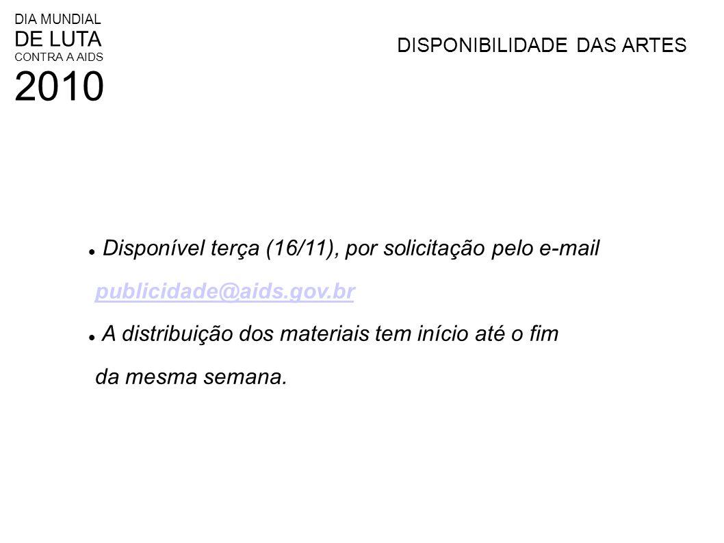 Disponível terça (16/11), por solicitação pelo e-mail