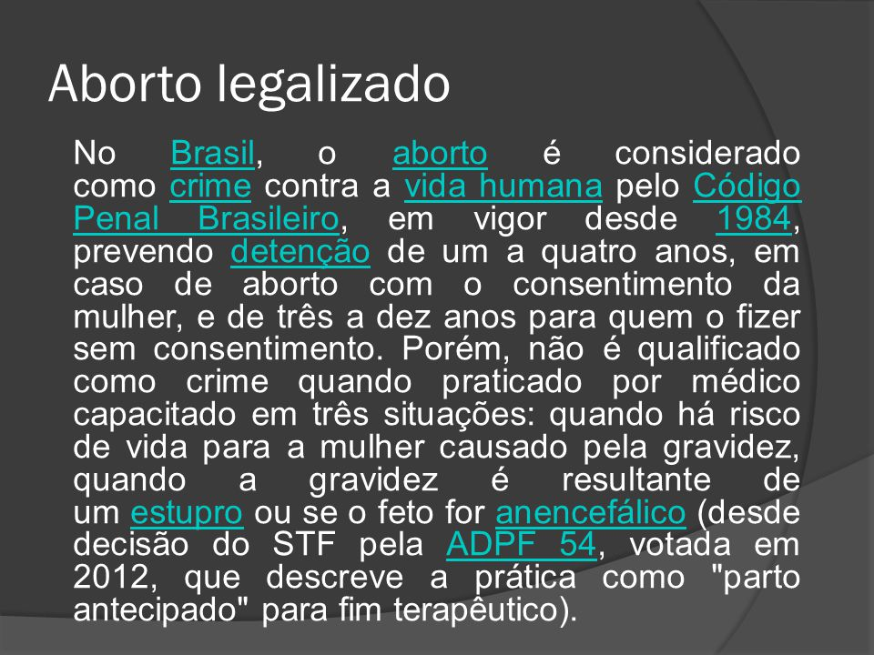 Aborto legalizado