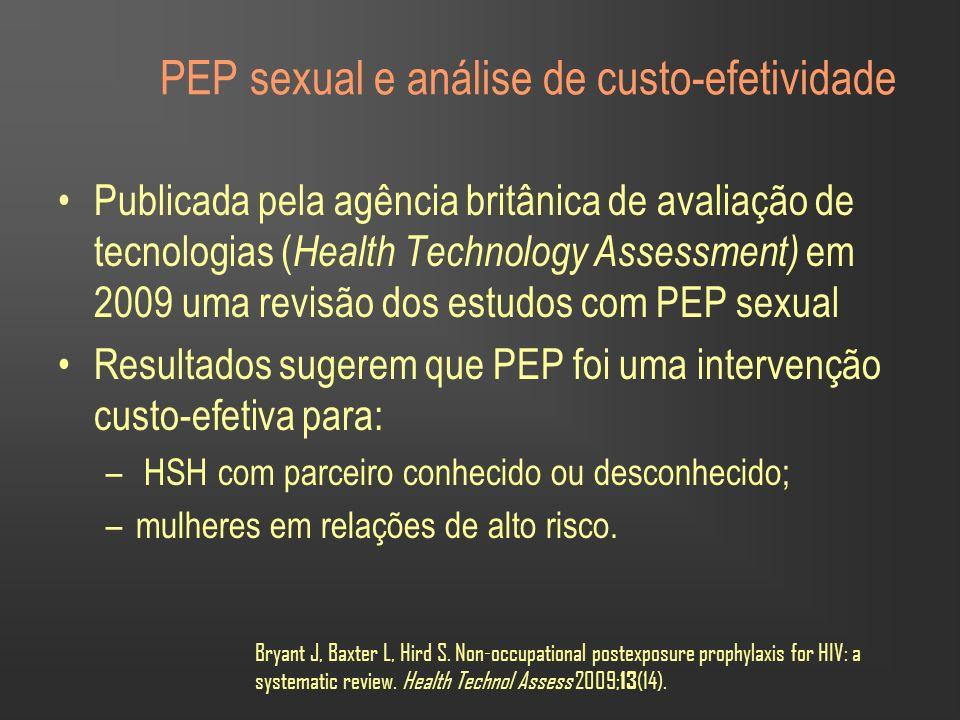 PEP sexual e análise de custo-efetividade