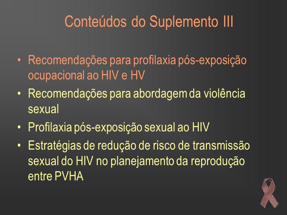 Conteúdos do Suplemento III