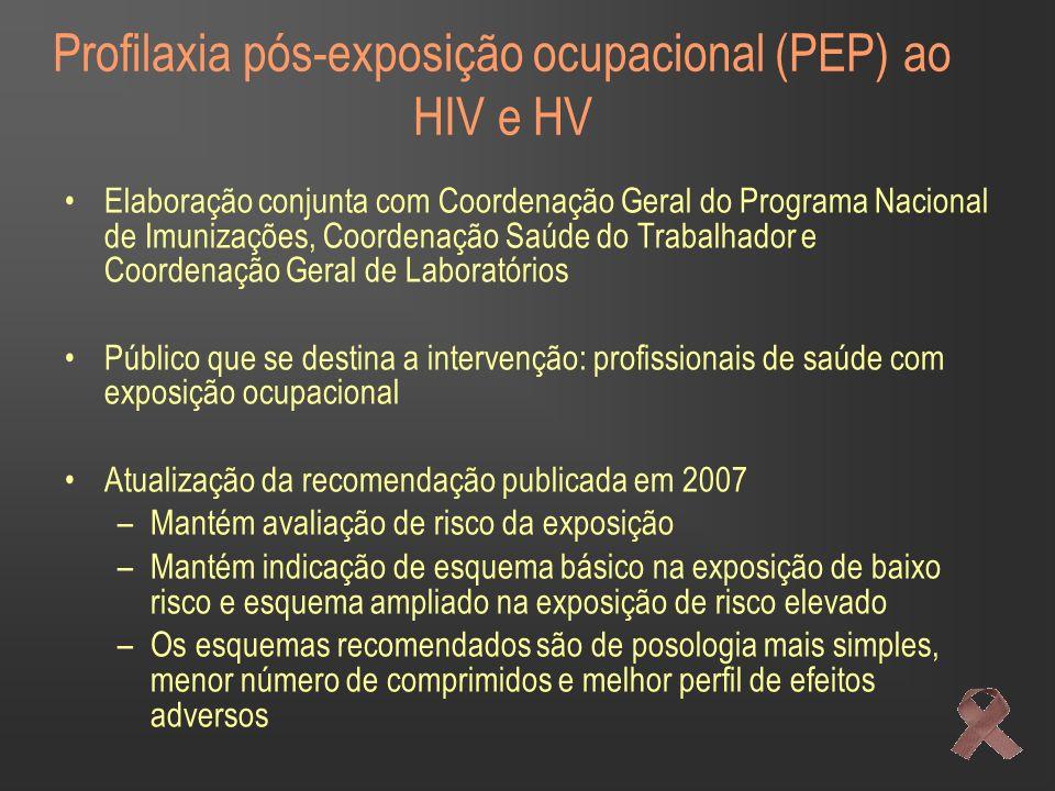 Profilaxia pós-exposição ocupacional (PEP) ao HIV e HV